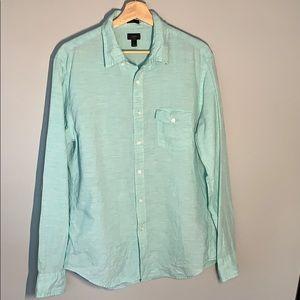 J Crew Slim Fit Baird McNutt Irish Linen Shirt